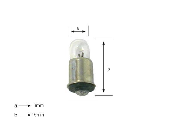 Izzó 14V 80mA MIDGET FLANGED LAMP14V/80-MIF
