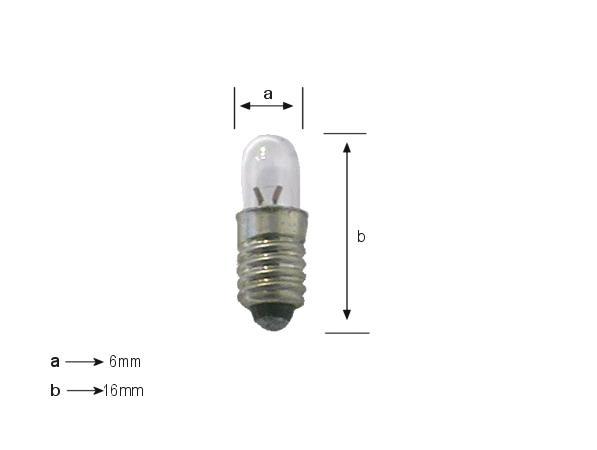 Izzó 5V 60mA MIDGET SCREW E5.5 LAMP5.0V/60-MIS