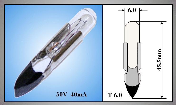 Izzó 24V 50mA TELEPHONE T6.8F LAMP24V/50-T6