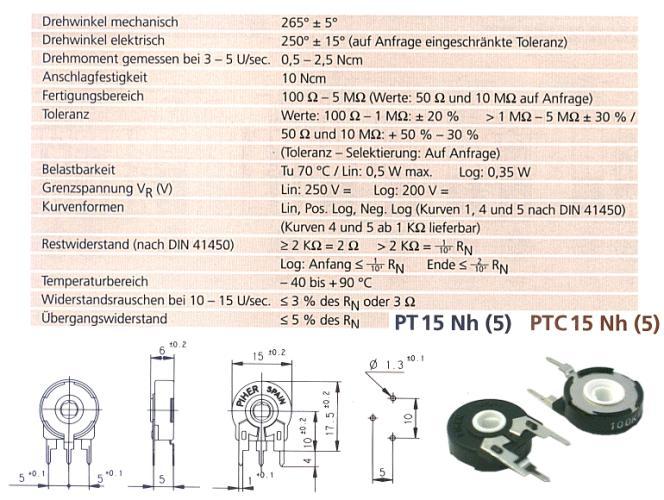 TRIMMER 100K 15mm álló, ovális TRIM 100K-15V