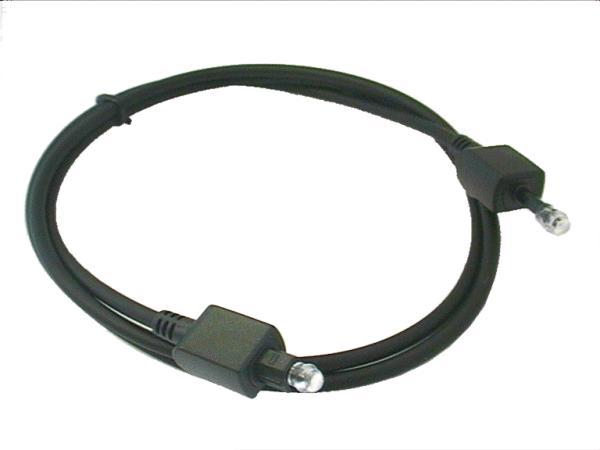 Optikai kábel TOSLINK dugó - 3.5mm dugó 1m CABLE OPTO 3/ 1