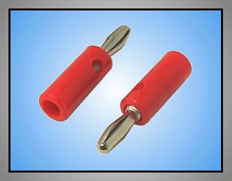 4mm banándugó piros (lemez rugós) CSAT-B001/R