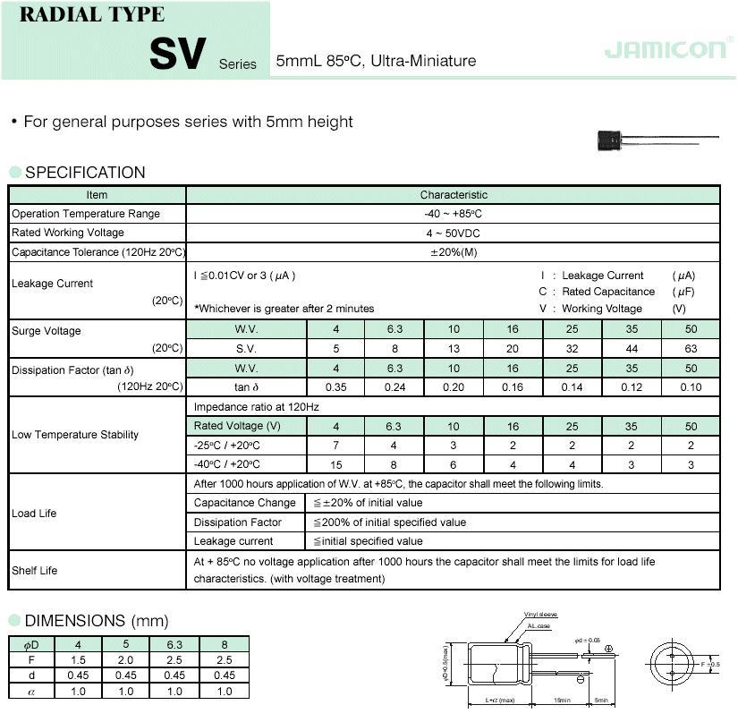 ELKO 10uF 35V 85°C 4x5 álló 10/35P 4X5