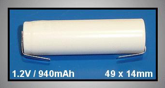 Ni-Cd 1.2V 940mAh akkumulátor 14x49mm ACCU-1.2/1000AA