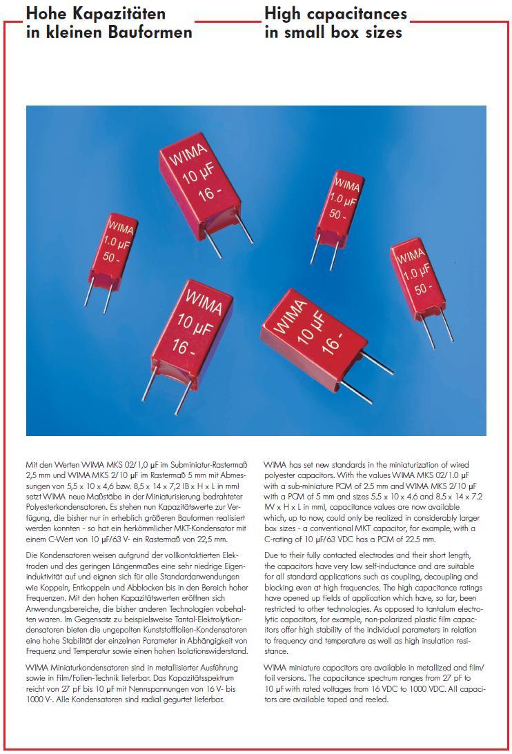 Kondenzátor 220nF 100V 10% Poliészter RM-5 C220N 100/MKT1