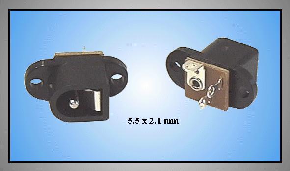 DC aljzat 2.1x5.5mm (két csavaros rögzítés) CSAT-P009/2.1