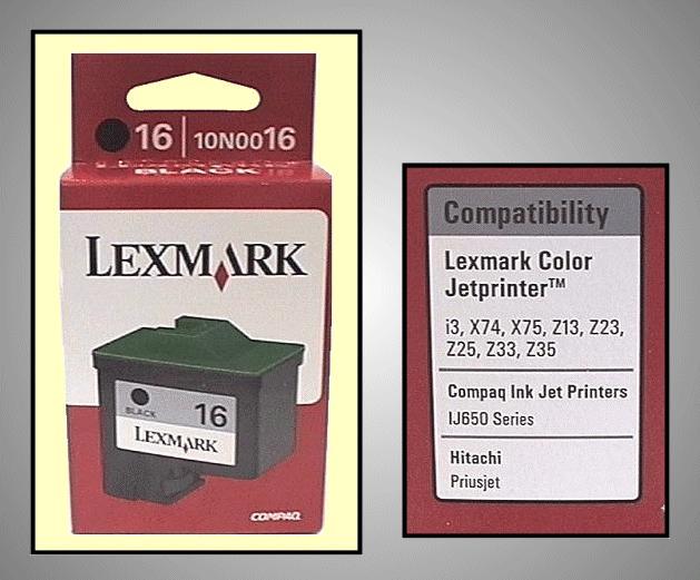 Tintapatron: LEXMARK 10N0016 I000221