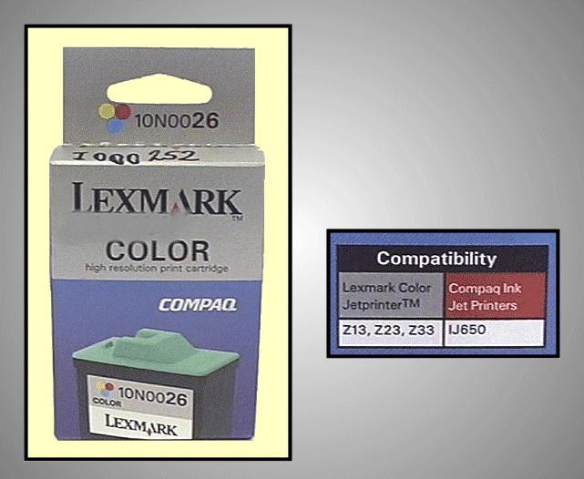 Tintapatron: LEXMARK 10N0026 I000252