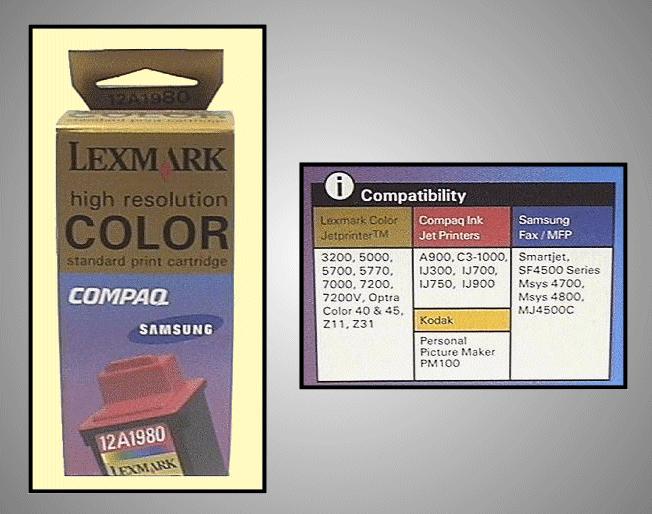 Tintapatron: LEXMARK 12A1980 I000253