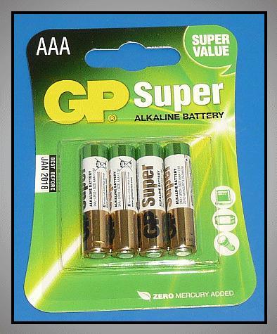 1.5V 4db LR03 AAA GP Super Alkáli elem BAT LR3/4 GP