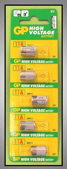 6V MN11 GP 11A Riasztó elem BAT MN11 GP