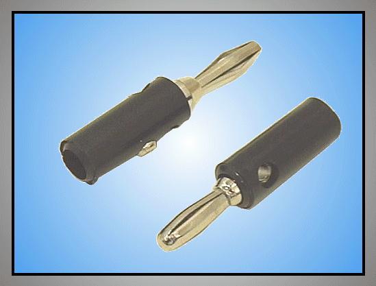 4mm banándugó fekete (lemez rugós) CSAT-B001/B