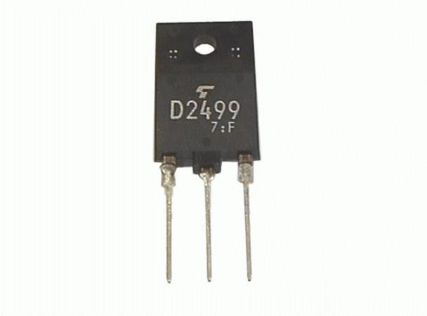 Tranzisztor NPN+DR 1500/600V 6A/12Ap. 50W 0.3uS 2SD2499 2SD2499 -