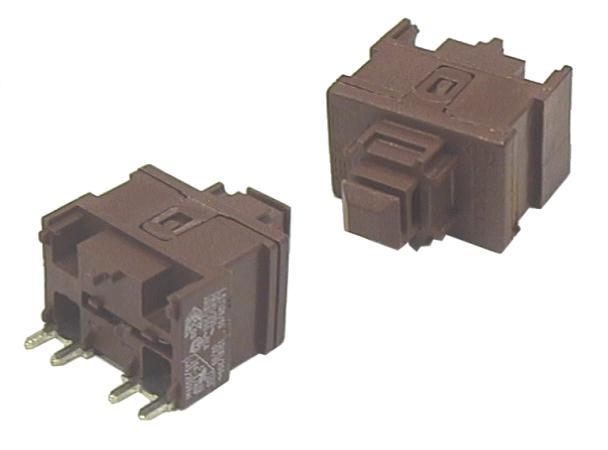 Kapcsoló nyomógombos 250V 10A 1áramkörös SW2182