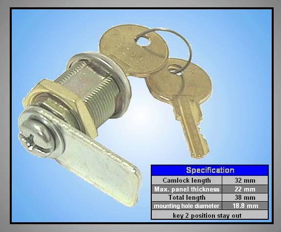 CAM LOCK L=22mm KS-11