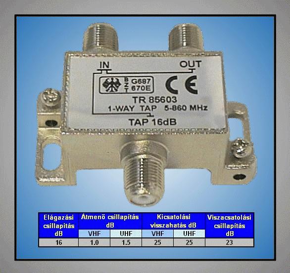 5-1000MHz egyes leágazó 16.0dB FC-112-16