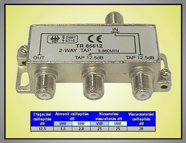 5-1000MHz kettős leágazó 12.5dB FC-202-12.5