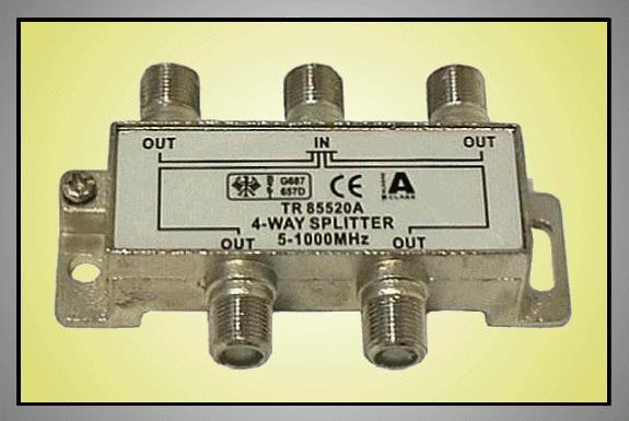 4 xelosztó 5-1000MHz iránycsatolt FC-704