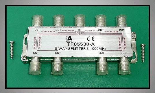 8 xelosztó 5-1000MHz iránycsatolt FC-708