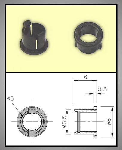 LED foglalat 5mm 1 részes plasztik RTC-51