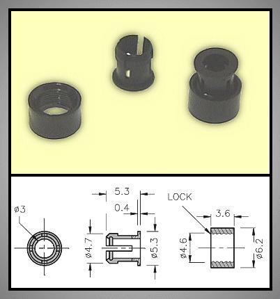 LED foglalat 3mm 2 részes plasztik RTC-32