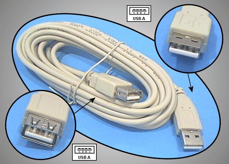 USB-A dugó - USB-A aljzat, kábel hossz. 3m (toldó kábel) CABLE USB-MF3.0