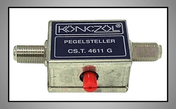 F-csatlakozós antennajel csillapító, szabályozható 0-20dB FC-100 SZAB.F