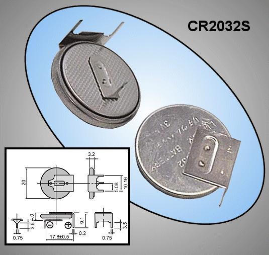 3V CR2032S lítium elem Hor. (forrasztható) BAT CR2032S