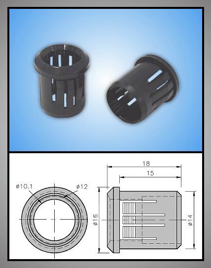 LED foglalat 10mm 1 részes plasztik RTF-1090