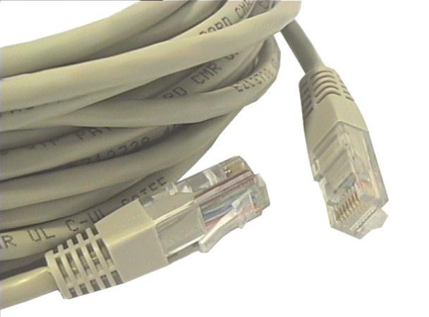 Cat.5E UTP patch kábel 10m 8p. Szürke CABLE UTP/10E
