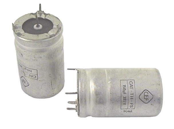 ELKO 150uF 385V 1p.+3p. álló 150/385P/1