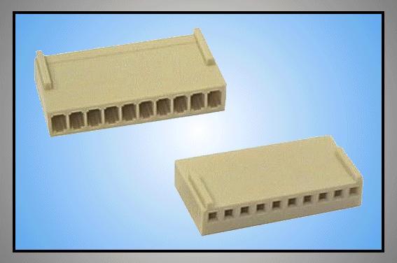 Egysoros csatlakozó ház 10p.táv. 2.54mm CSAT-10101/D