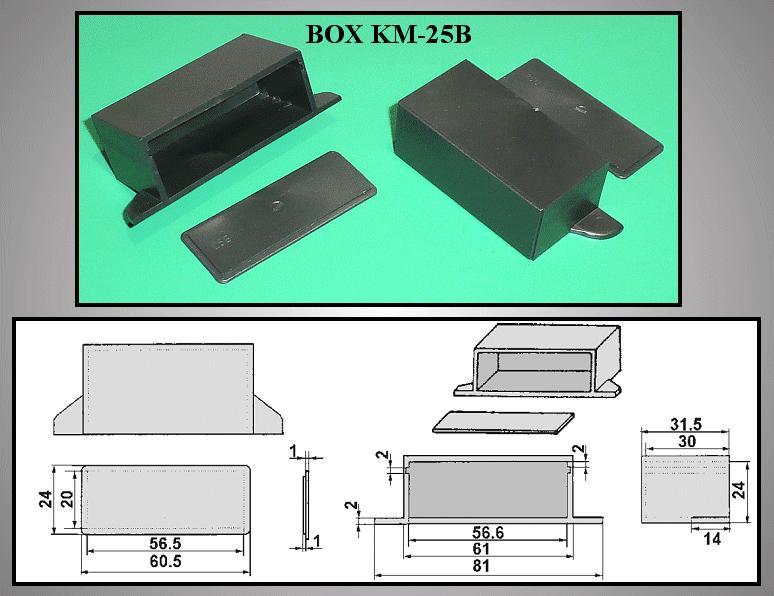 UNIVERSAL BOX 60x32x25mm BOX KM25B