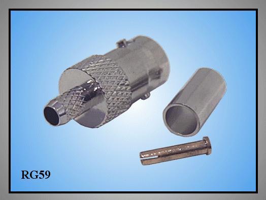 BNC aljzat krimpelhető 50Ohm (RG58) BNC-109