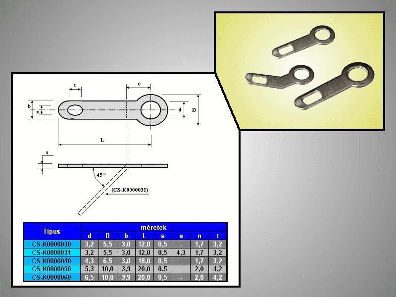 Forrfül 3mm (egyenes) CS-K0000030