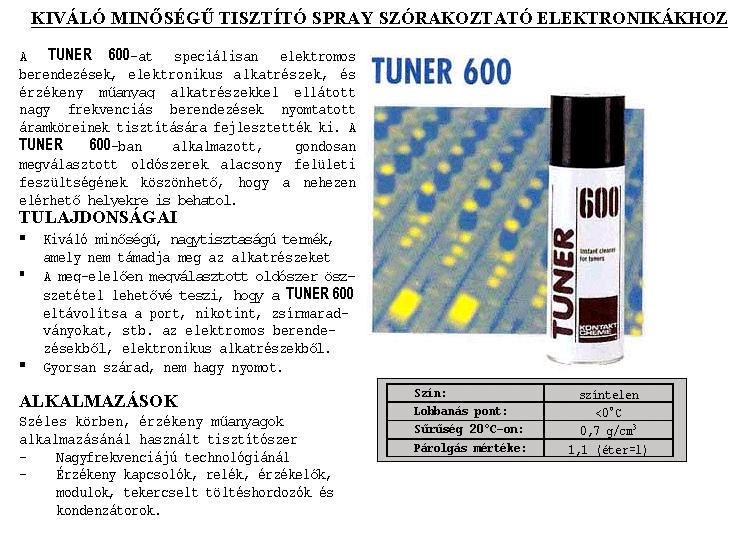SPRAY: TUNER 600 200ml 600/200