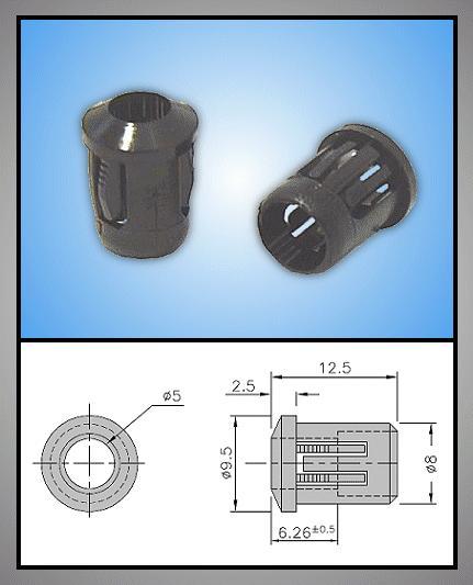 LED foglalat 5mm 1 részes plasztik RTF-5010