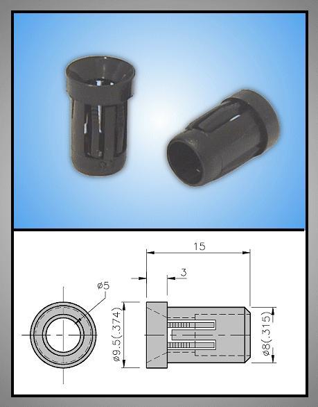 LED foglalat 5mm 1 részes plasztik RTF-5020