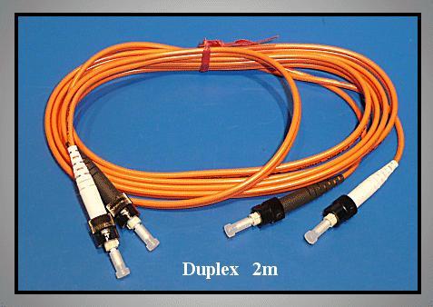 Optikai kábel Duplex ST/ST 62,5/125um -2m- LSOH-narancs CABLE OPTO 5/ 2