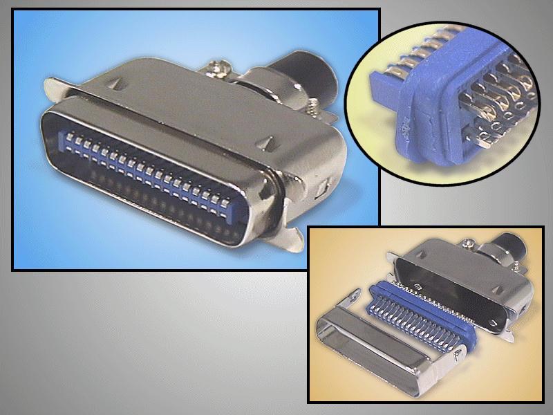 Centronics 36 pólusú IDC csatlakozó kábelhez CENTR-236