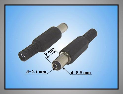 DC dugó L=35mm 5.5x2.1x 9mm+T CSAT-P0055/21 T