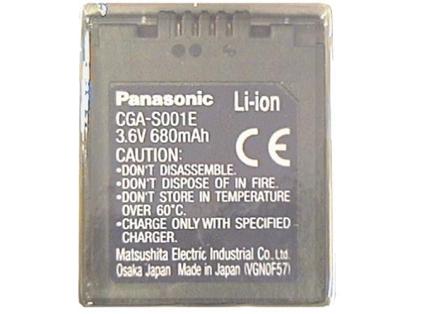 Li-Ion 3.6V 680mAh akkumulátor CGA-S001E ACCU FOT-004