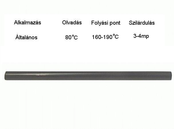 SILICONE 11x200mm (fekete ragasztó rúd) GLUEMATIC/A11B