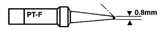 Forrasztópáka hegy WTCP CON. 15mm 1.2mm 370* WEL.7PT-F