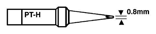 Forrasztópáka hegy WTCP SCR. 15mm 0.8mm 400* WEL.8PT-H