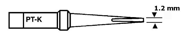 Forrasztópáka hegy WTCP SCR. 25mm 1.2mm 370* WEL.7PT-K
