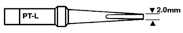 Forrasztópáka hegy WTCP SCR. 25mm 2.0mm 400* WEL.8PT-L