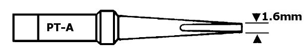 Forrasztópáka hegy WTCP SCR. 15mm 1.6mm 310* WEL.6PT-A