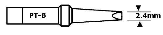 Forrasztópáka hegy WTCP SCR. 15mm 2.4mm 400* WEL.8PT-B
