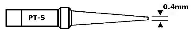 Forrasztópáka hegy WTCP CON. 25mm 0.4mm 400* WEL.8PT-S